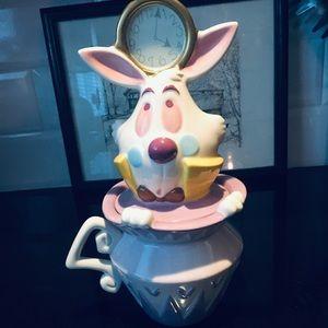 Disney- white Rabbit cookie Jar